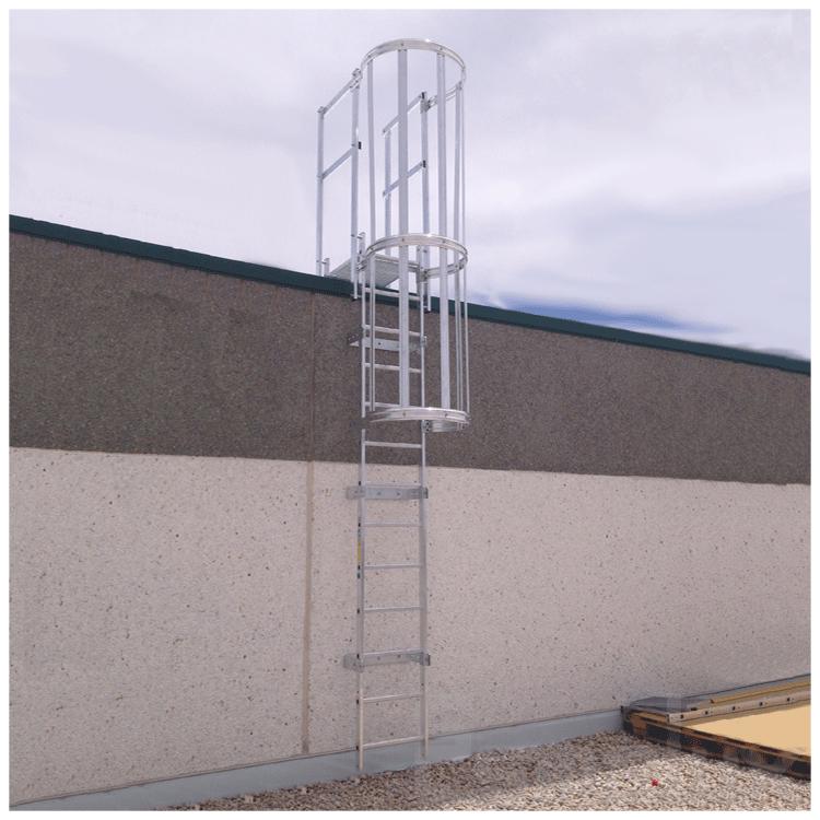 Escalera fija con protecci n de espalda referencia 80476500 - Escalera de gato con proteccion ...