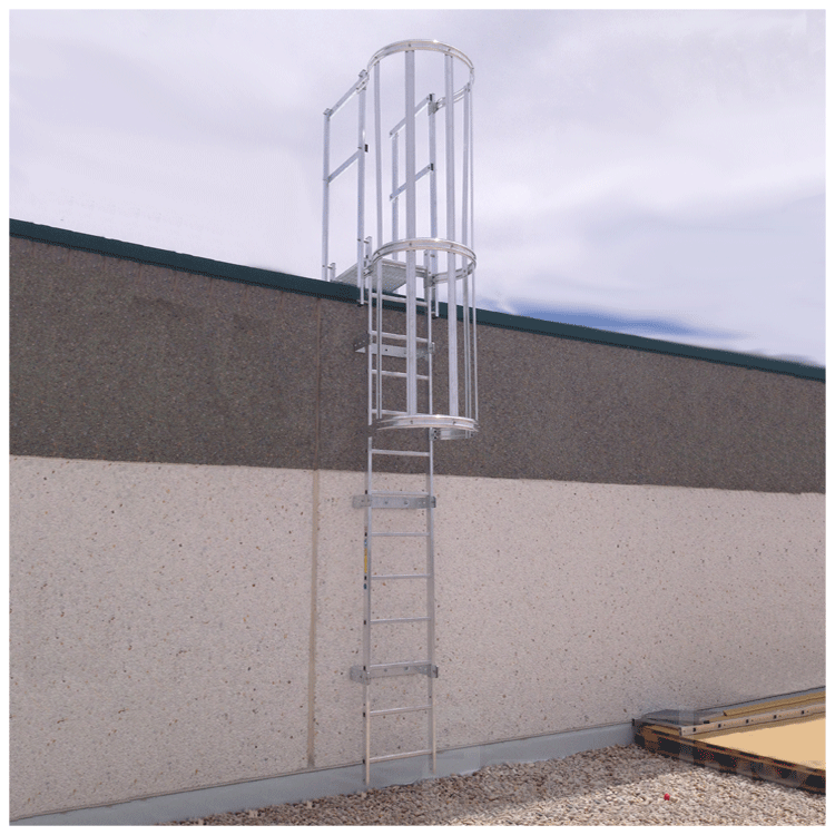 Escalera fija con protecci n de espalda referencia 80475500 - Proteccion de escaleras para ninos ...