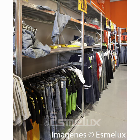Estantería metálica textil 3 estantes + 1 colgador. Imagen #1