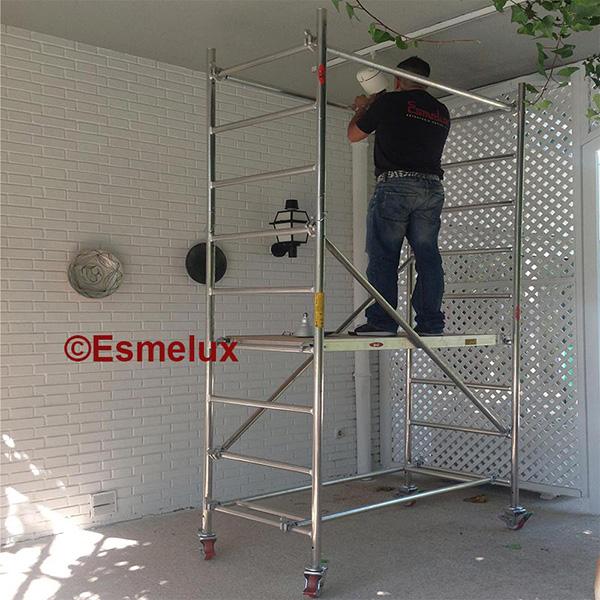 Andamios de aluminio para trabajos domesticos - Ruedas para andamios ...