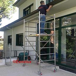 Andamios de aluminio para trabajos domesticos