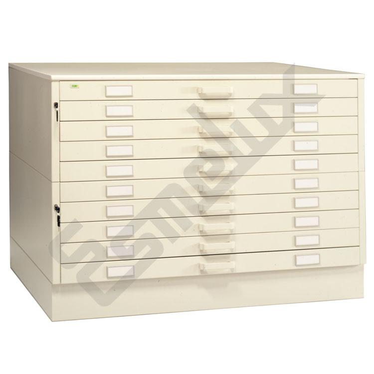 Armario met lico con 10 cajones referencia 80801 for Armario oficina con llave