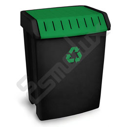 Contenedor de reciclaje, tapa Verde