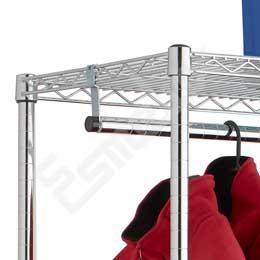 Estantería Cromada para Textil 2 barras colgadoras. Imagen #2