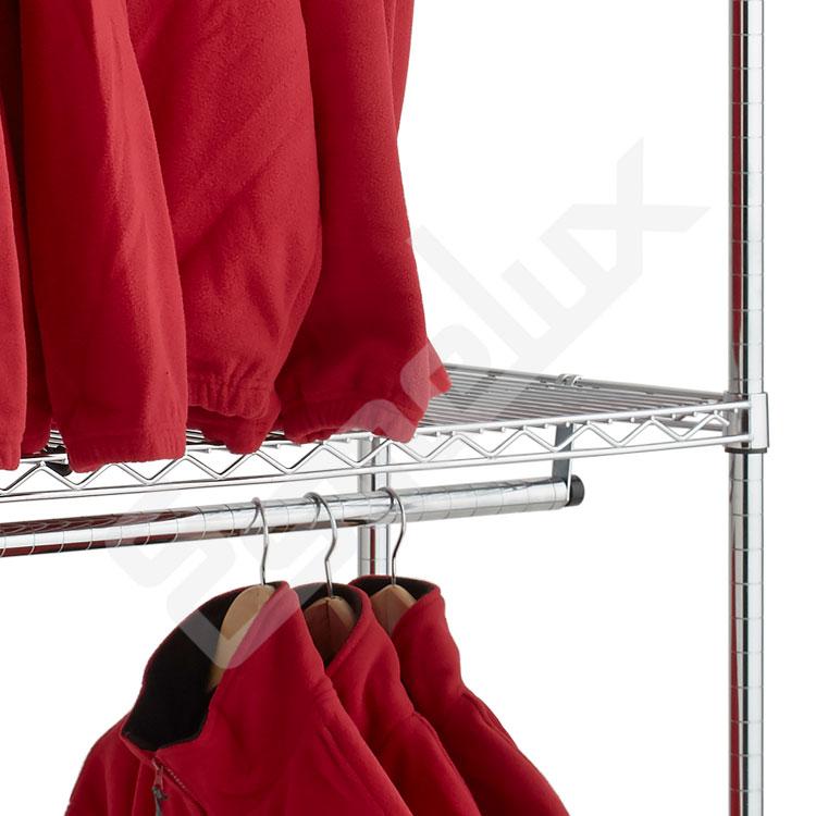 Estantería Cromada para Textil 2 barras colgadoras. Imagen #3