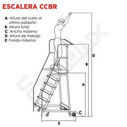 Escalera de plataforma con ruedas CCBR. Imagen #1