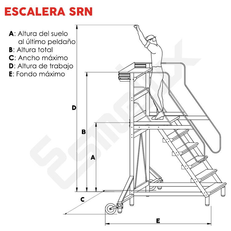 Escalera SRN de plataforma con ruedas. Imagen #1