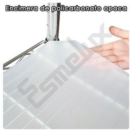 Encimera de policarbonato opaca