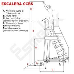 Escaleras de plataforma con ruedas CCBS. Imagen #2