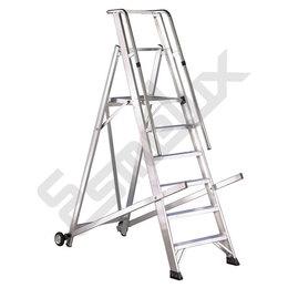 Escalera aluminio VER ,plataforma y barandilla. Imagen #0