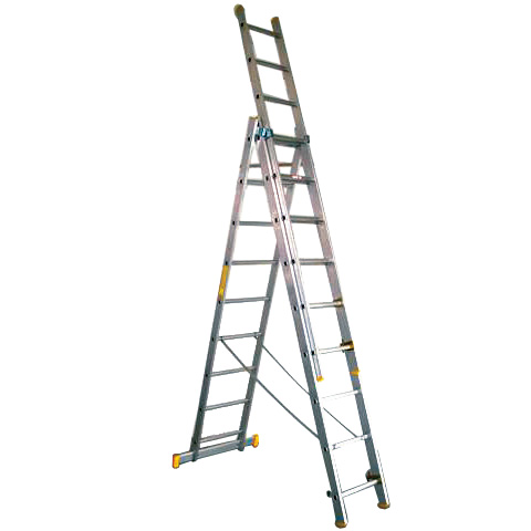 Escalera de aluminio tr de 3 tramos referencia 80573 for Escaleras tres tramos