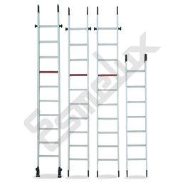 Escalera de Aluminio, en 4 tramos