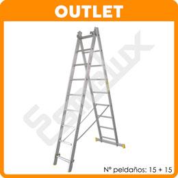 Escalera OUTLET aluminio TR de 2 tramos