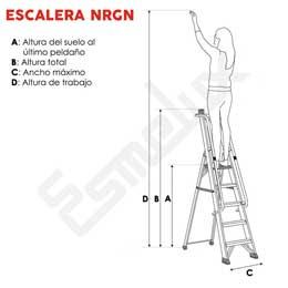 Escaleras aluminio, de tijera con barandilla NRGN. Imagen #1