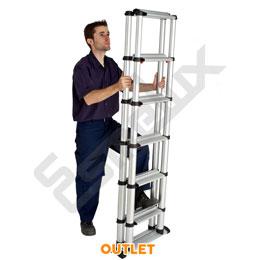 Escalera telescópica Outlet plegable de tijera. Imagen #1