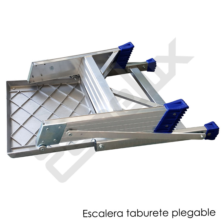 Escalera taburete en aluminio for Escalera aluminio plegable easy