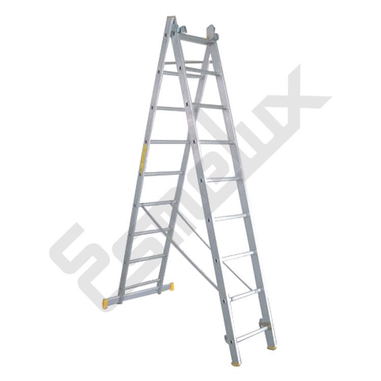 Escalera de aluminio tr de 2 tramos referencia 80580 for Escalera metalica plegable precio