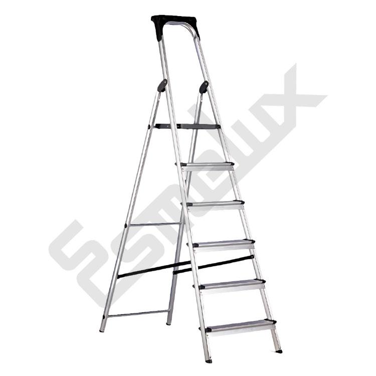 Escalera de aluminio anodizado de tijera for Escaleras 10 peldanos de tijera