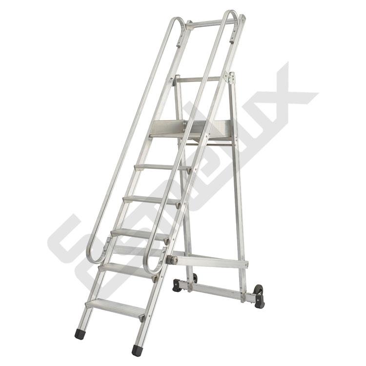 Escaleras sp plegables con plataforma - Escaleras metalicas plegables ...