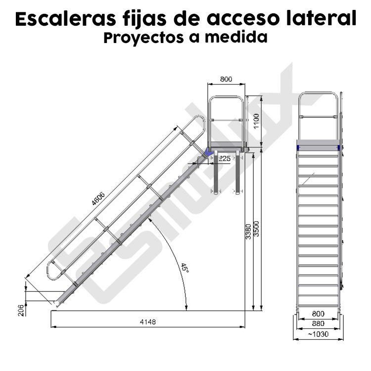 Escaleras fijas de acceso lateral. Imagen #2