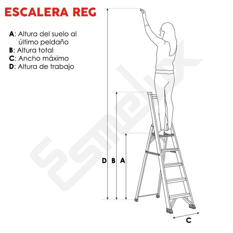 Escalera industrial plegable REG. Imagen #1