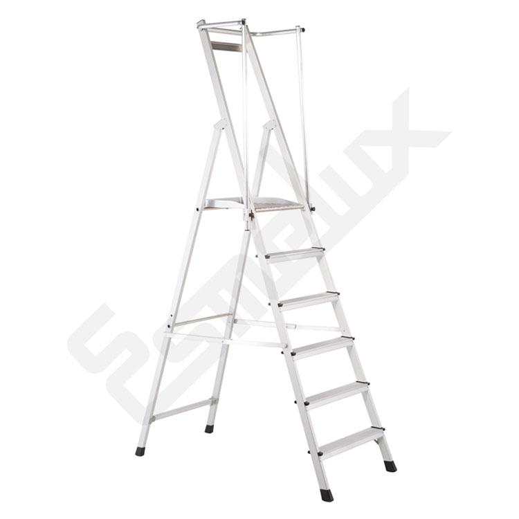 Escaleras aluminio tijera Z-Plus seguridad. Imagen #0