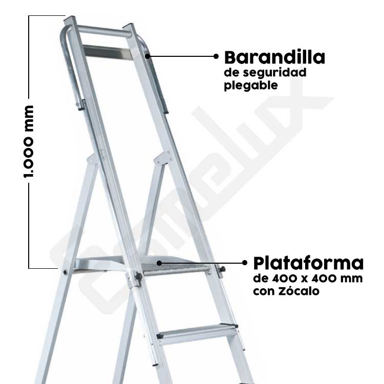 Escaleras aluminio tijera Z-Plus seguridad. Imagen #2