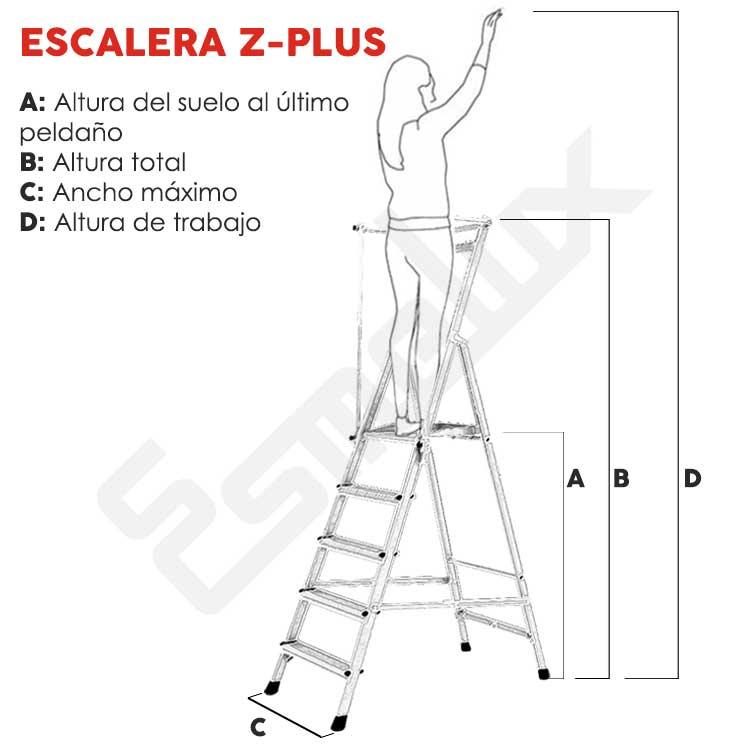 Escaleras aluminio tijera Z-Plus seguridad. Imagen #1