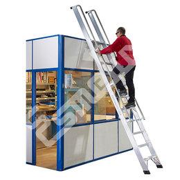 Escalera aluminio portátil, con barandillas DIA