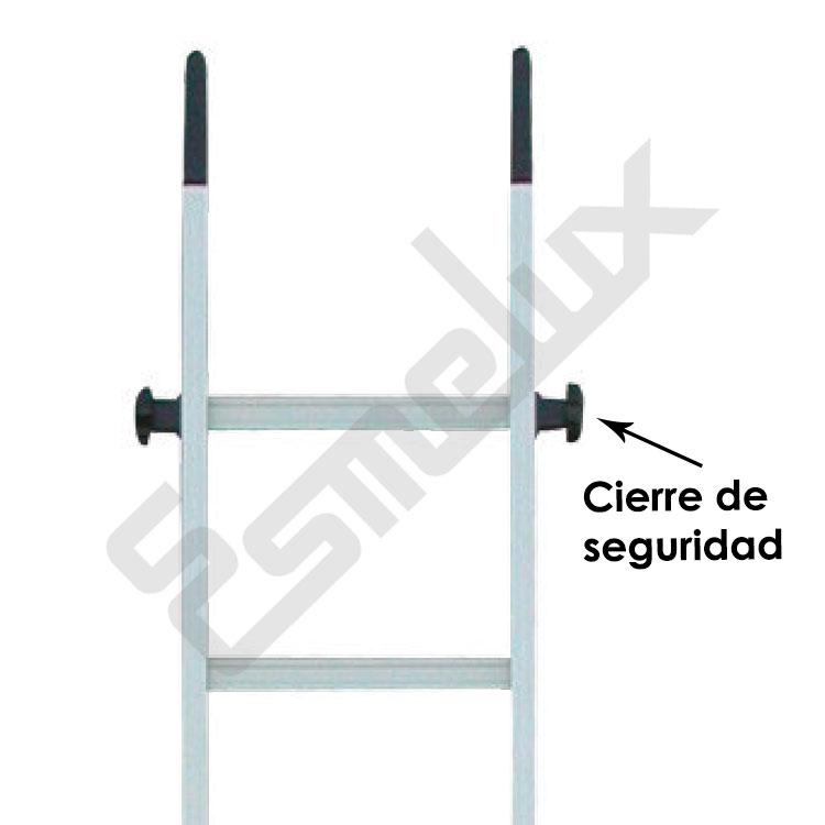 Escalera de aluminio por encaje vf - Cierres de seguridad ...
