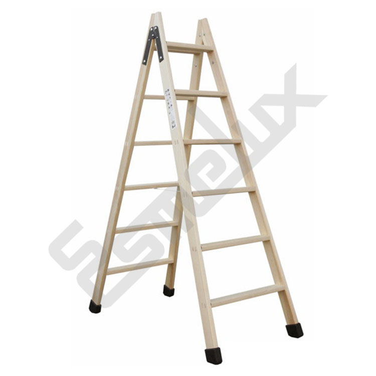 Escaleras plegables de madera classic for Escaleras altas plegables