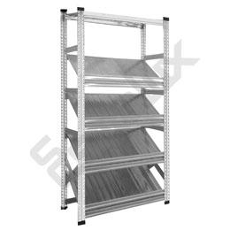 Expositor Galvamil con estantes inclinados. Imagen #2