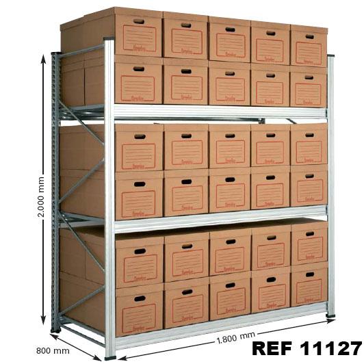 Estanterías metálicas con cajas archivo. Imagen #4