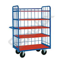 Estantería con ruedas con 3 laterales y 5 estantes