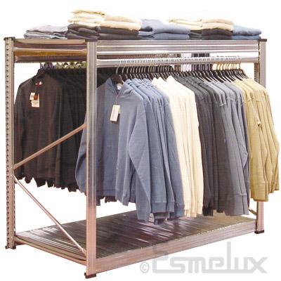Estanter a expositora colgadora especial textil - Estanteria para ropa ...