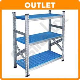 OUTLET Galvamil paneles plásticos azules 3 estante