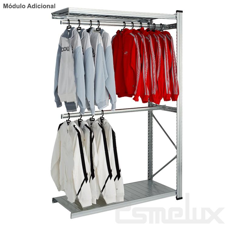 Estantería metálica textil 2 estantes + 2 colgador. Imagen #1
