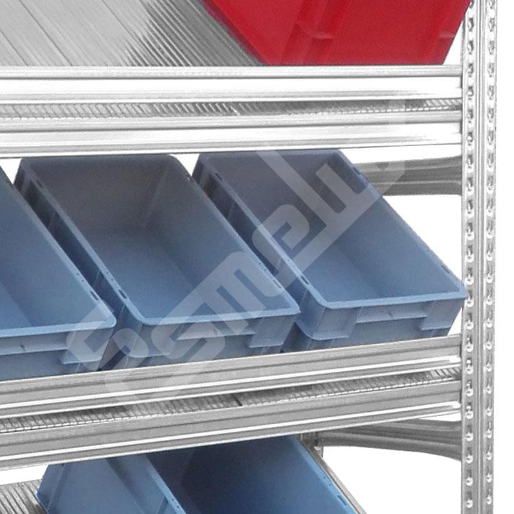 Expositor Galvamil con estantes inclinados. Imagen #1