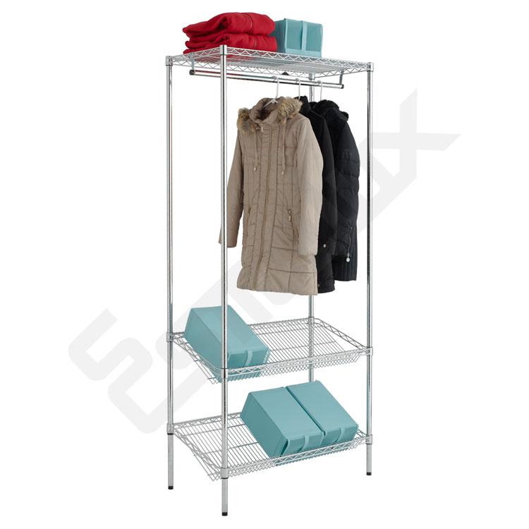 Estantería Cromo para Textil - estantes inclinados. Imagen #0