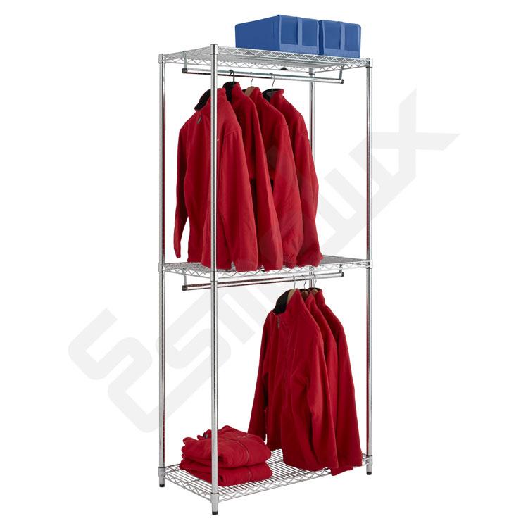 Estantería Cromada para Textil 2 barras colgadoras. Imagen #0
