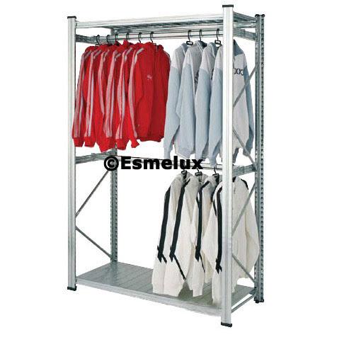 Ref 11446 estanter as met licas galvanizadas con conjunto - Estanterias para ropa ...