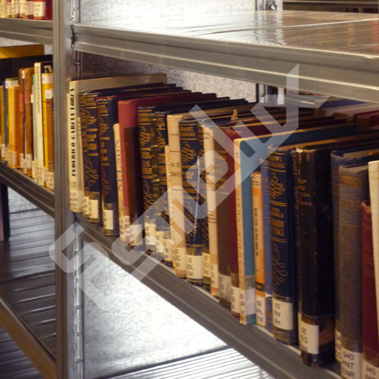 Instalaciones de estanter as esmelux en tiendas y exposiciones - Estanterias metalicas para libros ...