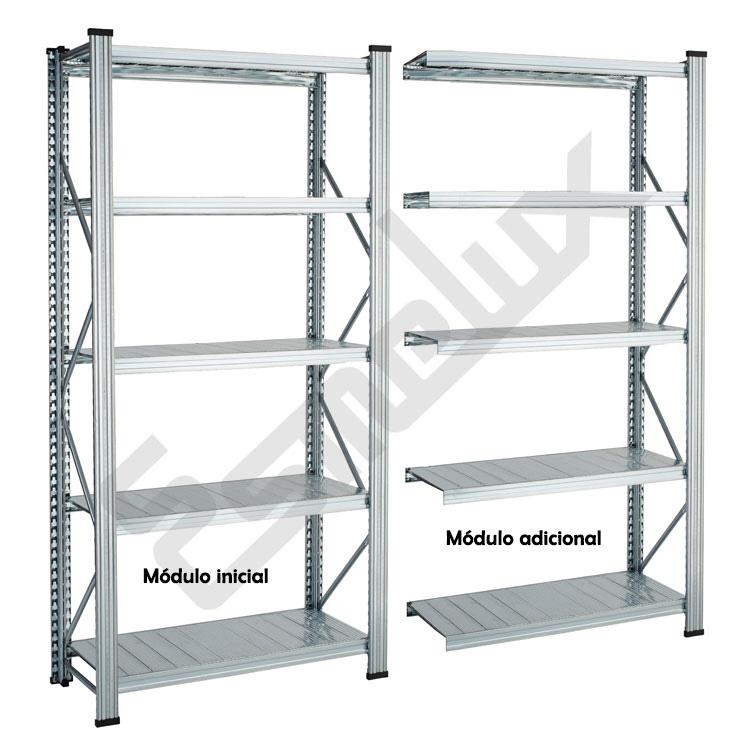 Estanter a met lica modular mm altura - Estanterias modulares metalicas ...