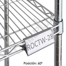 Etiquetero ángulo regulable para estante de cromo. Imagen #2
