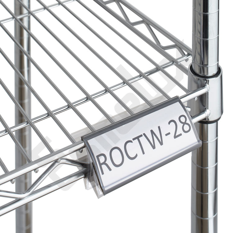 Etiquetero ángulo regulable para estante de cromo. Imagen #0