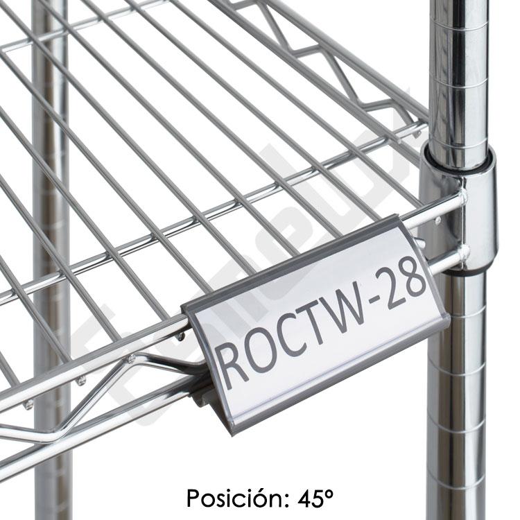 Etiquetero ángulo regulable para estante de cromo. Imagen #3