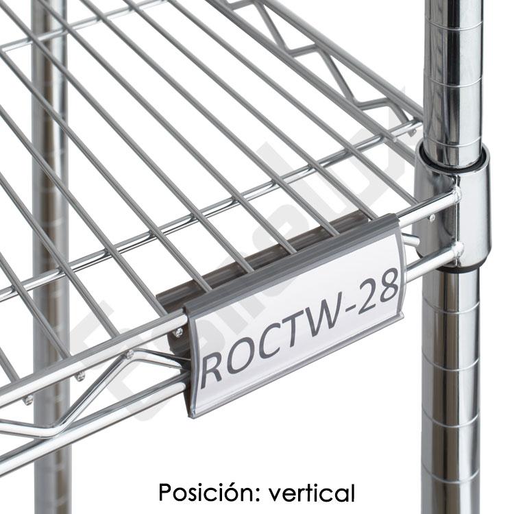 Etiquetero ángulo regulable para estante de cromo. Imagen #1