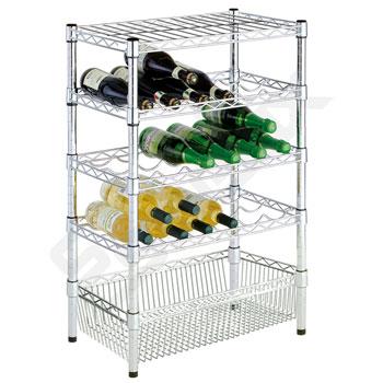 Mini módulo con estante cesta y botelleros