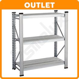 Módulo 3 estantes de paneles perforados OUTLET
