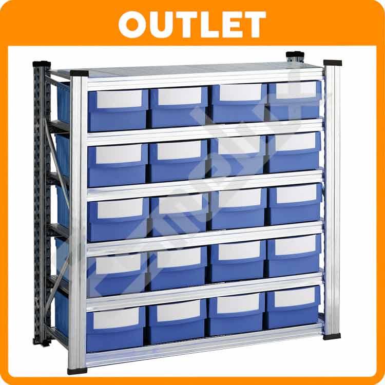 Estanter a 10 estantes cajones polipropileno t - Cajones para estanterias ...
